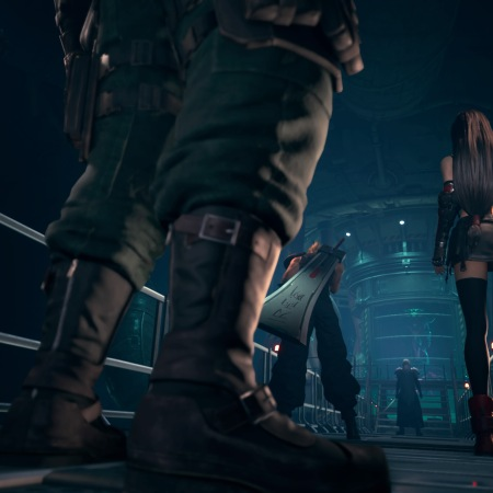 FINAL FANTASY VII REMAKE - Cloud and gang confront Sephiroth